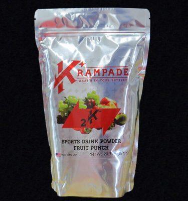 Krampade 2K fruit punch electrolyte replacement powdered sports drink