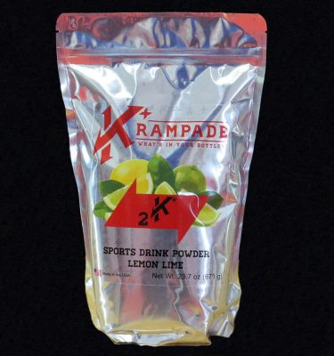 Krampade 2K lemon lime electrolyte replacement powdered sports drink