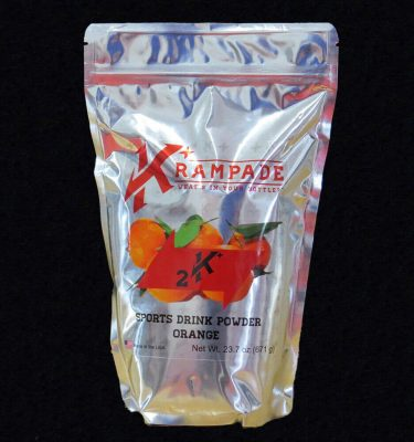 Krampade 2K orange electrolyte replacement powdered sports drink