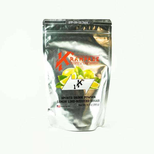 Krampade Original 1K reduced sugar lemon lime flavor, 19 serving resealable pouch, 1000 mg of potassium per serving, designed for elderly and nighttime leg and foot cramps
