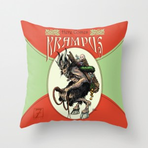 Krampus Throws and Pillows
