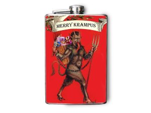 Christmas Krampus Flask