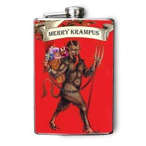 Christmas Krampus Flask