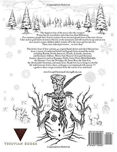 Krampus Coloring Book Page