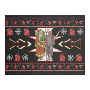 Southwest Christmas Krampus Design Fleece Blanket