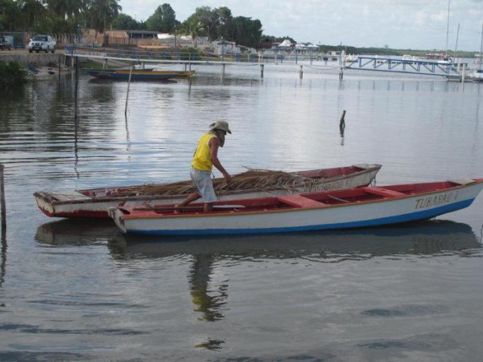 Rybářské čluny.