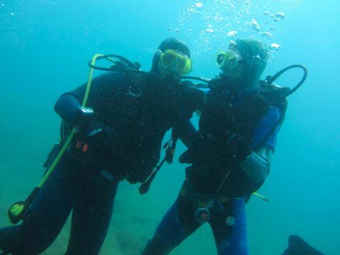 Potápění na Istrii.