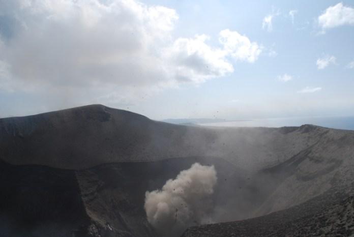 Vnější kráter sopky.