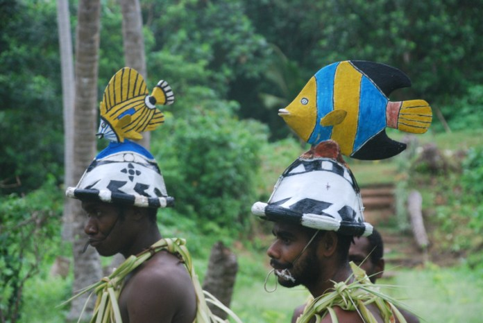 Tanenčíci z ostrova Ureparapara mají na hlavách krásné podobizny ryb.