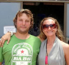 Filip s instruktorkou freedivingu Lindou Paganelli.