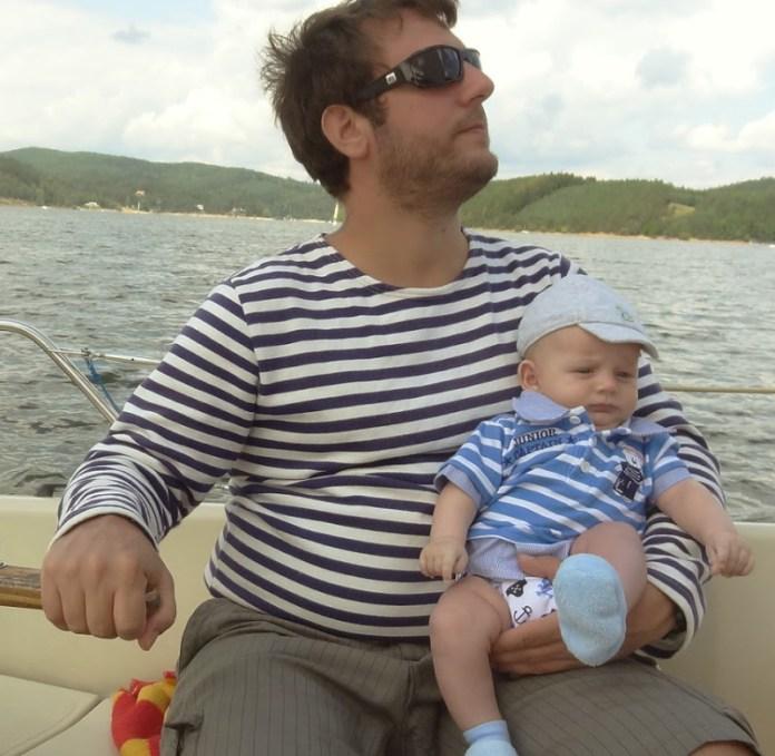 Kapitán a junior kapitán. Foto: první důstojník přes pleny.