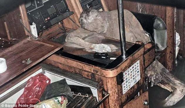 Mumifikované tělo mrtvého námořníka