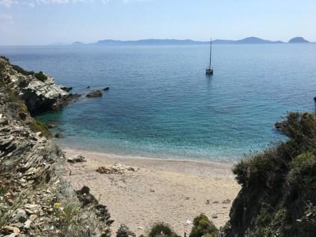 Gaia v zátoce na Skopelosu.