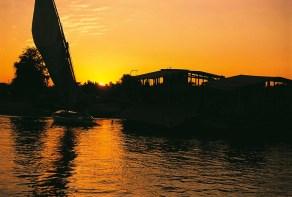 Západ slunce nad Nilem