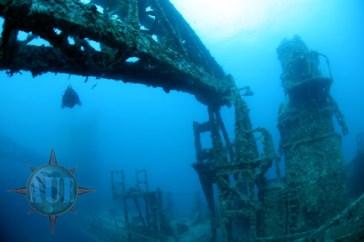 Vrak lodi Britannic. Zdroj: http://uwex.us/AUEaugust07.htm