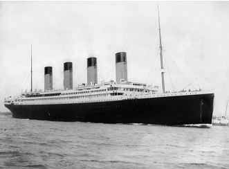 RMS Titanic opouští Southampton 10. dubna 1912 Wikipedie Autor: F.G.O. Stuart (1843-1923)