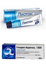 Фото Лиотон-1000 и аналог Гепарин-акри гель 1000