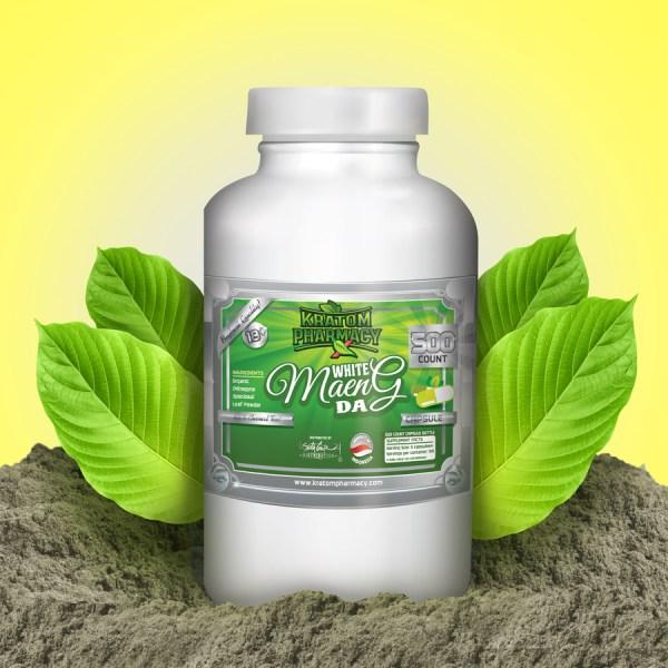 White Maeng Da capsules - 500 count