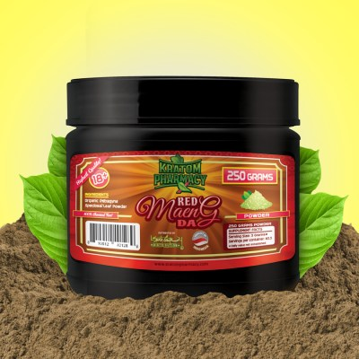 Kratom Pharmacy - Red Maeng Da - 250 gram powder jar