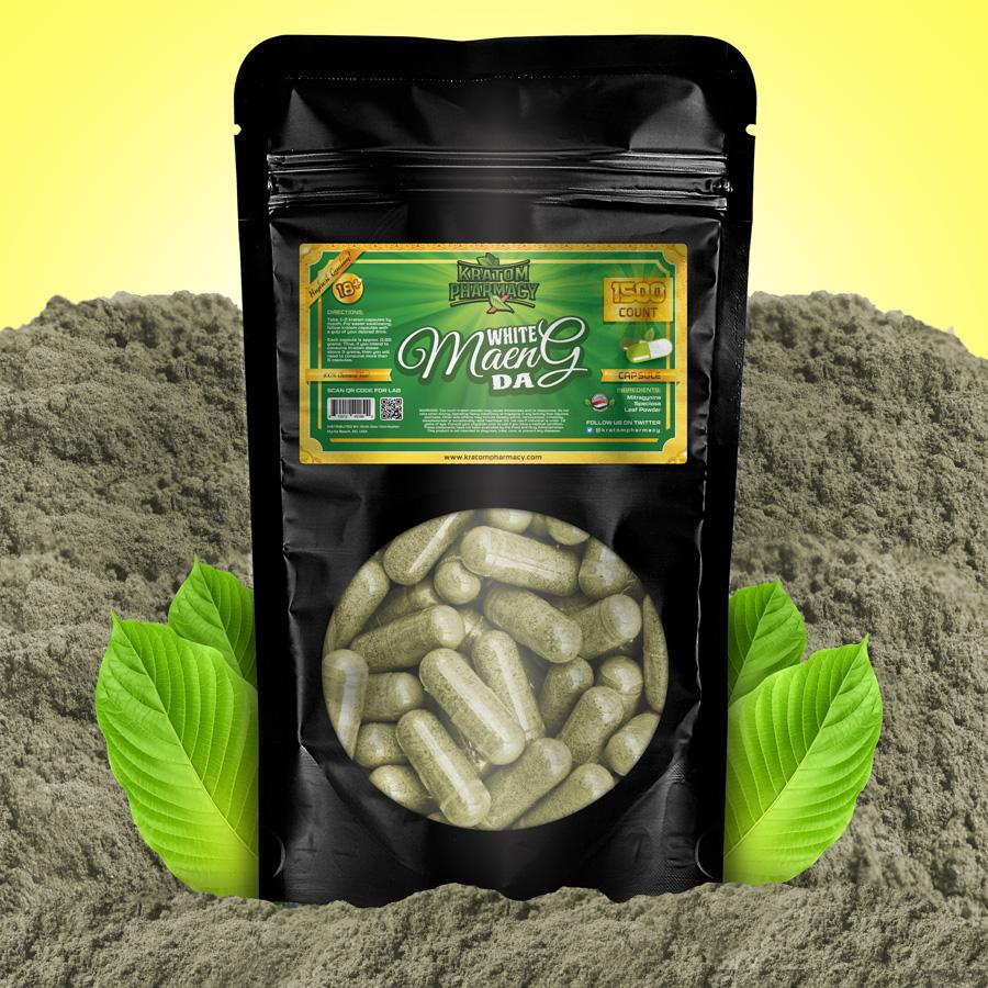 Kratom Pharmacy | White Maeng Da - 1500 Capsules