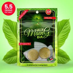 Green Maeng Da Kratom Tablets - 2 count