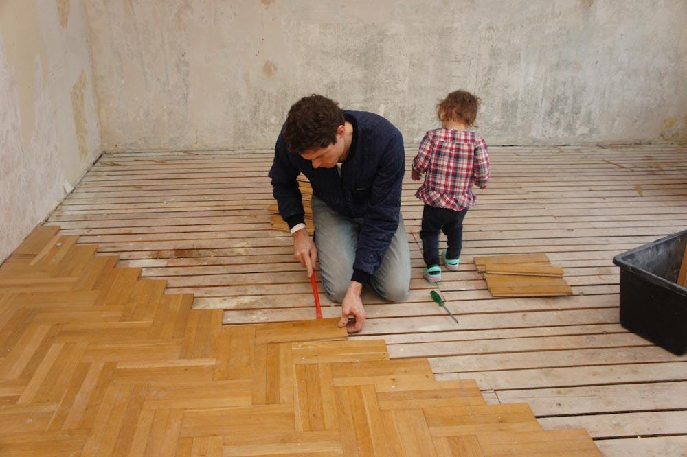 Parkettboden Schlafzimmer ausbauen  Martin Kratschmann