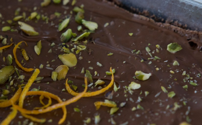 Chocolate Brownies with Pistachios and Orange
