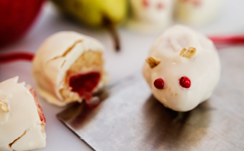 Creepy White Chocolate Halloween Mice