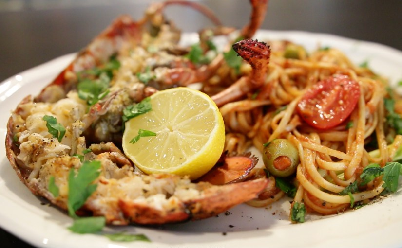 Chilli Garlic Grilled Lobsters