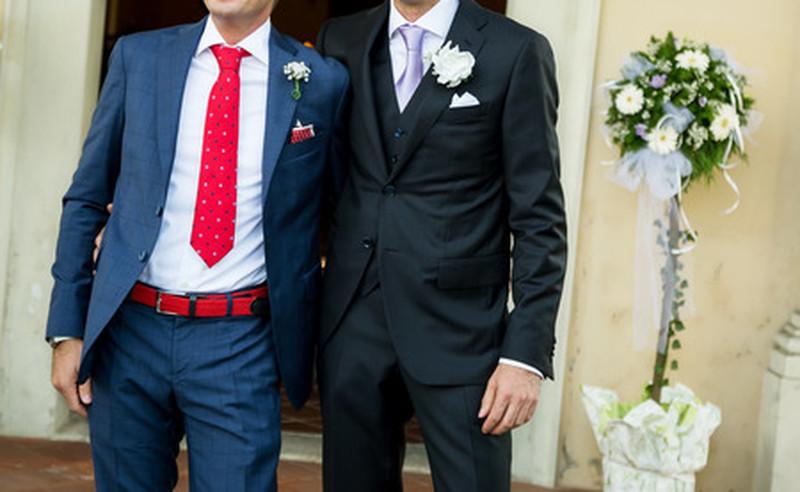 Blauer Anzug Krawatte