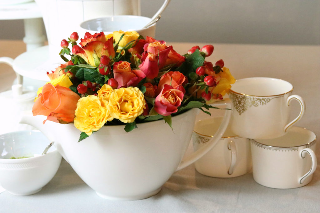 Krayl Funch Mothers Day Tea Party Ideas Flowers in Teapot 1