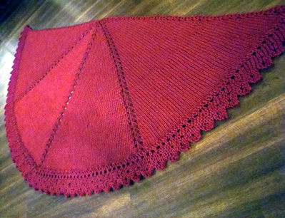 half circle shawl - red 1