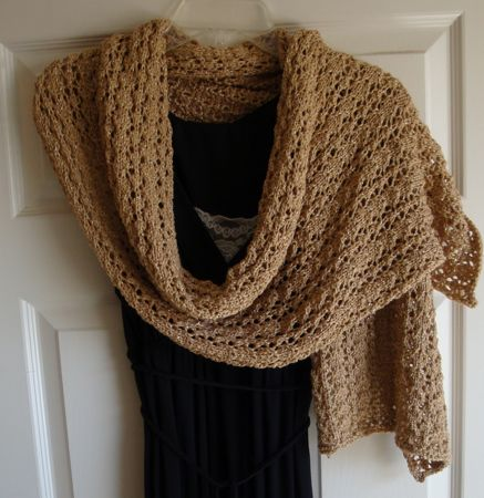cat's paw lace knit wrap