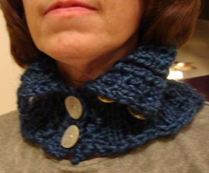 lace rib knit neckwarmer pattern