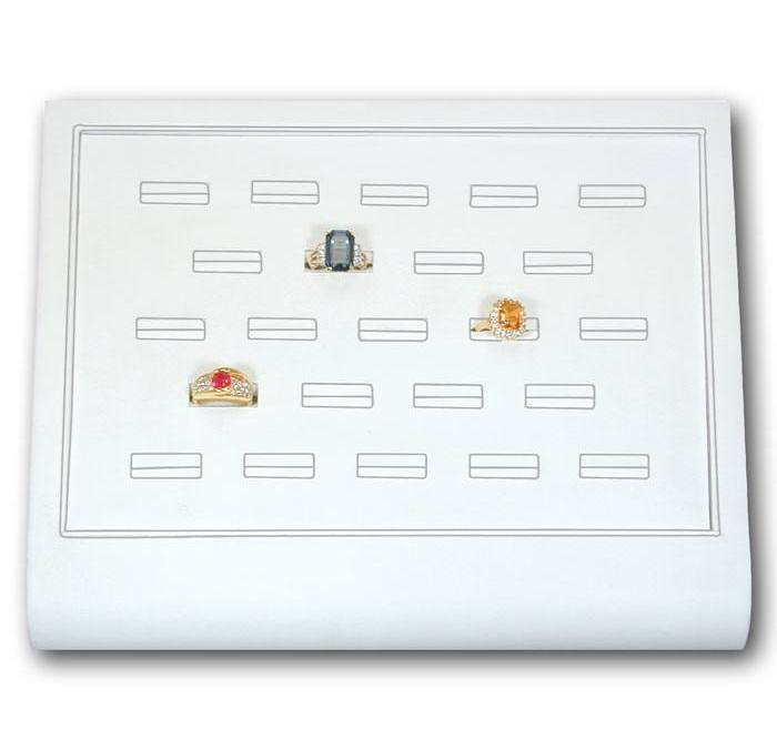 Leatherette Ring Tray White