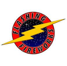 Flashing Fireworks Logo