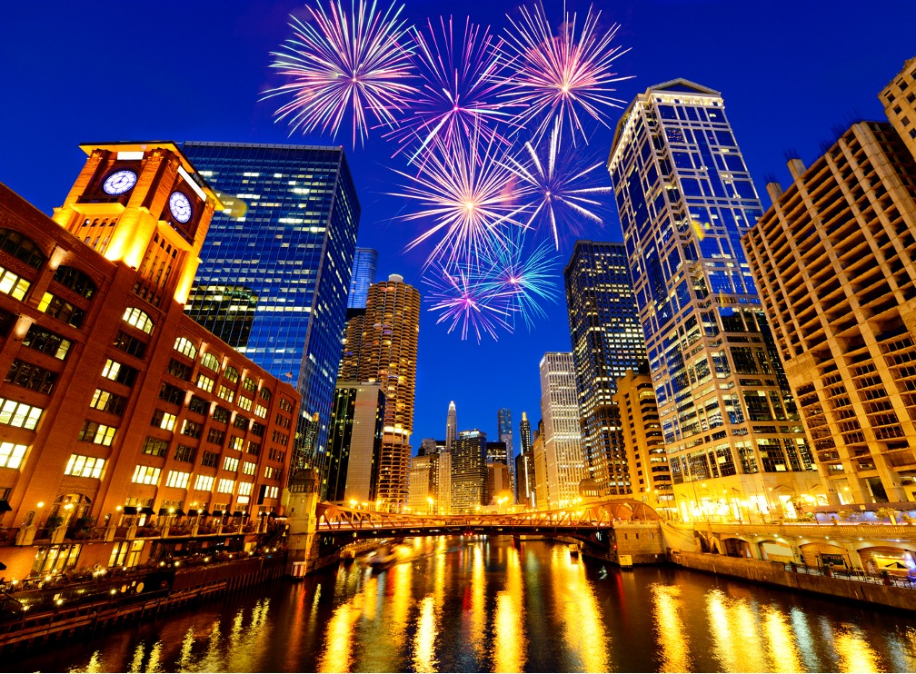 Fireworks company in Chicago, Illinois