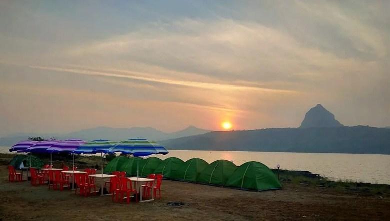 Sunset view from Pavana dam