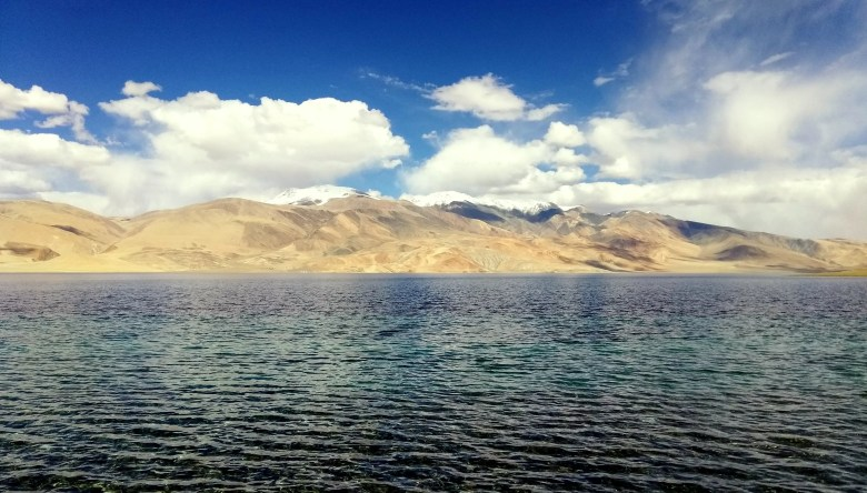 Tso Moriri Lake or Mountain Lake in Ladakh