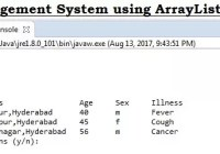 hospital management system using ArrayList