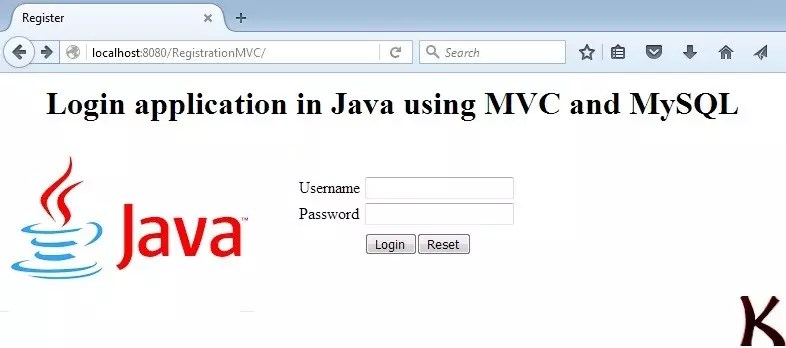 Login application in Java using MVC and MySQL - Krazytech