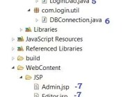Eclipse directory structure for Session and Role based Java Login example