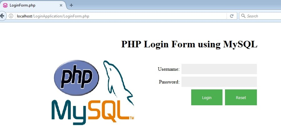 PHP Login Form using MySQL database- Krazytech