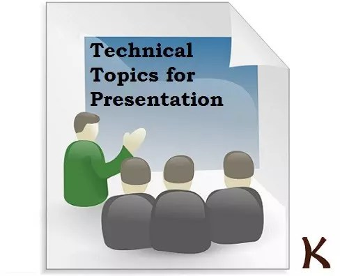 Technical Topics for Paper Presentation