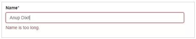 Form validation in AngularJS - Name field is long