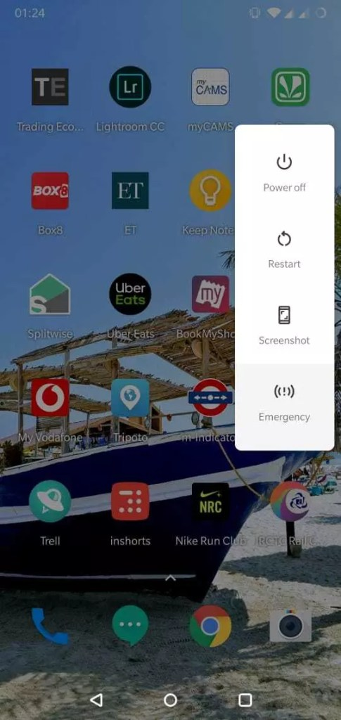 Android 9 pie screen capture technique