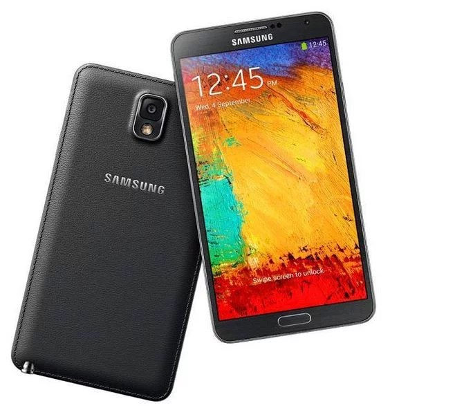 Samsung Galaxy Note 3 - front and rear looks