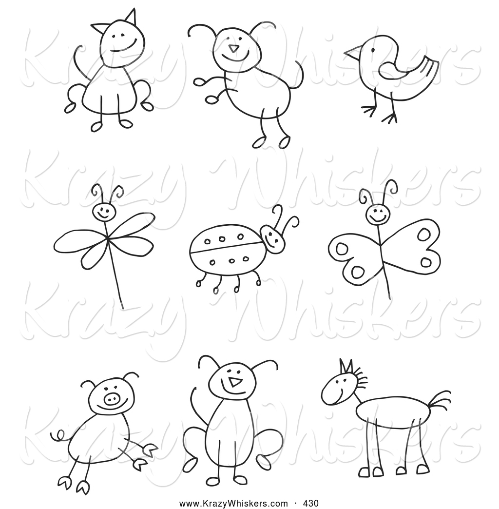 Royalty Free Black And White Stock Animal Designs
