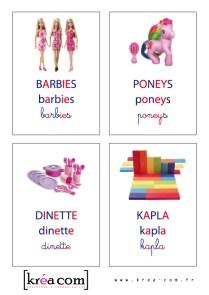 etiquettes pour boites a jouets. Méthode montessori