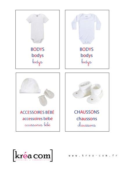 etiquettes de rangement pour les vetements bébé
